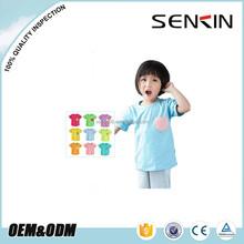 Korea Kids Fashion T shirt Custom Comfortable Sample Plain Children T shirt with Pocket OEM