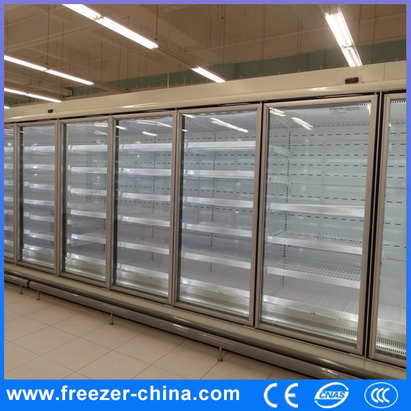 Air Cooling Glass Door Supermarket Chest Freezer