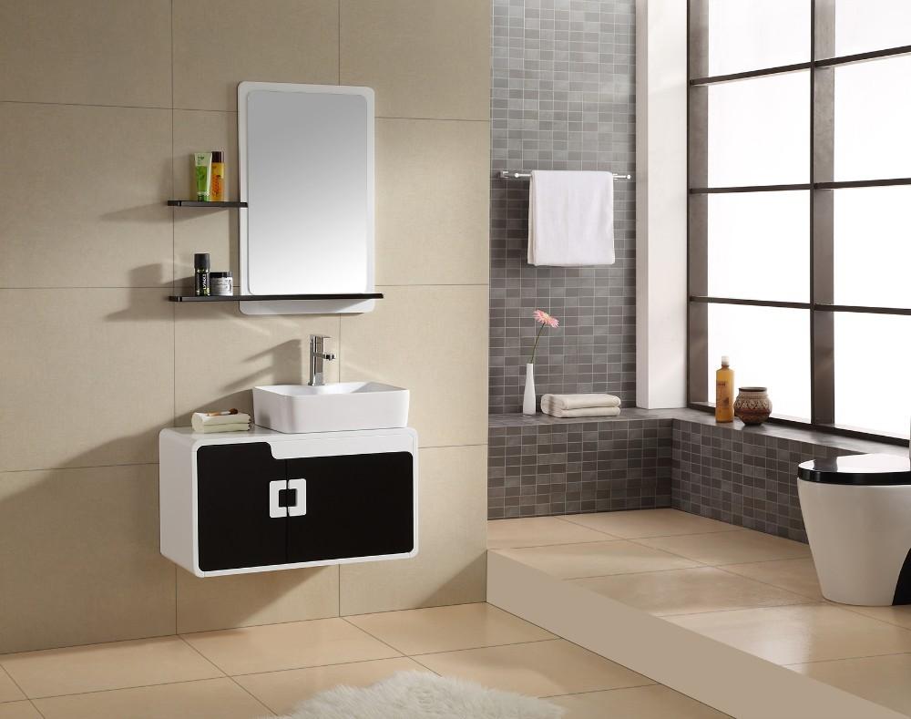 Ba09 hot sale waterproof bathroom cabinet pvc storage for Waterproof bathroom cabinets