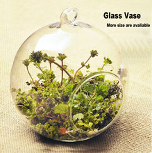 glass hanging ball vase