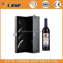 customized wine wood box with bottle opener