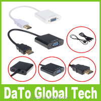 1080P HDMI to VGA With Audio Converter Adapter USB Power Video Cable
