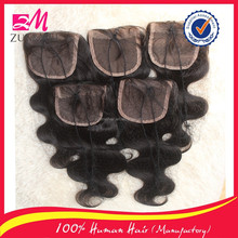 4X4 brazilian hair closure free part ,middle part and three part lace closure large stock 8inch-24inch