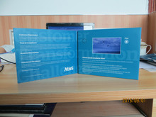 Calidad superior de 4,3 pulgadas folleto tarjeta de vídeo tarjeta de felicitación de vídeo tarjeta de felicitación de vídeo del