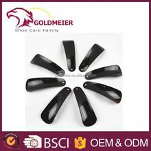 Plastic shoe horn 12 cm black shoe helper plastic shoe horn with customized logo