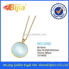 MG12092 6x42 Round Pendant Decorative Necklace Magnifying Glass