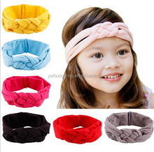 Children hair accessories baby girls top knotted headband kids child cotton hair band head wrap