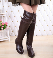 D16004A 2014 winter genuine leather cowhide knee boots