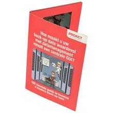 2015 hot venda nova chegada vídeo brochura / livro de vídeo / placa de vídeo