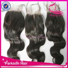 Peruvian hair lace closures lace base top closure magnetic closure box loose wave
