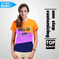 xc10-01woman stretchy lycra and cotton blank T-shirt directly manufacturer wholesale