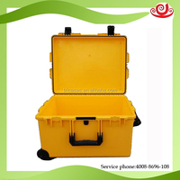 crush proof watertight wheeled hard plastic case for tablet