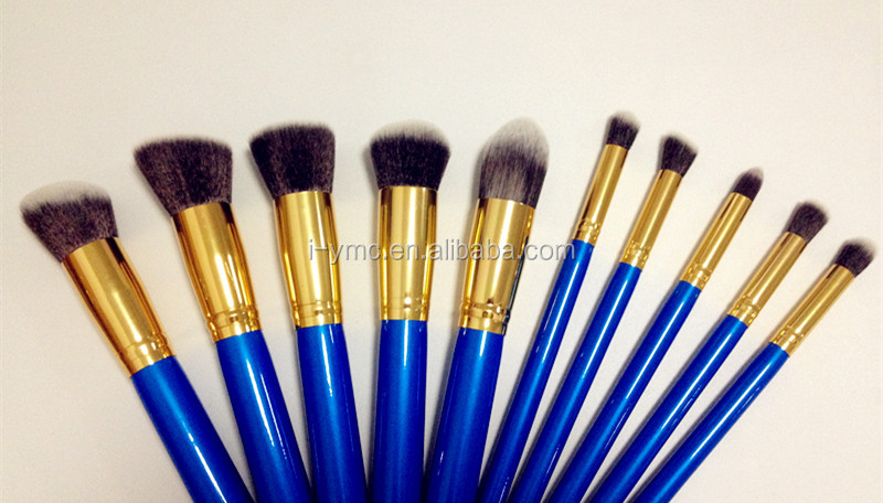 PRO hot red 24pcs cosmetic eyebrow brush makeup