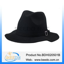 Best sale hat wool felt fedora man black hat