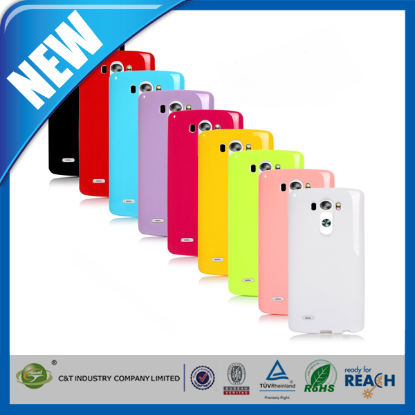 C&T wholesale cell phone case S line soft gel TPU for LG G3 case
