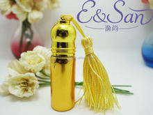 VZ02 5ML Wholesale Metal With Aluminium Tassles Cap Glass Refill Empty Perfume Atomizer Roll On Bottle