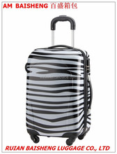 new style PC suitcase zebra printing film/Kids luggage/Cabin size suitcase