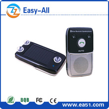 Hot selling solar auto charge /auto bluetooth car kit connection two-way connect for cell phone HF 720