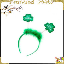 2015 wholesale green feather clover party haedband FGHD-0087