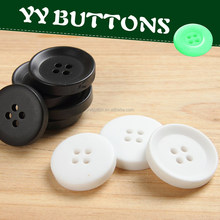 superb black and white color four holes white color uv electroplate effect resin blazer button