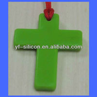 FDA silicone silicone rosary necklace pendant with ISO and Sedex