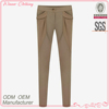 Hot selling ladies good quality close-fitting khaki business lady fashion trousers