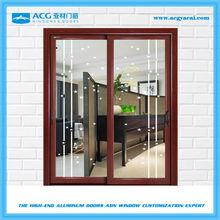 Elegant stained glass partition door sliding doors