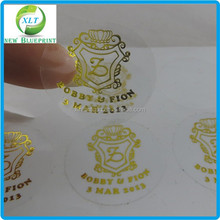Fancy logo transparent adhesive vinyl label, custom waterproof adhesive glass cup stickers