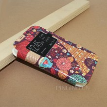 New design Color printing leather case cover for lenovo A1000 , leather flip case for lenovo A1000