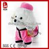 Sedex BSCI SA8000 WCA factory stuffed white poodle plush walking toy dog