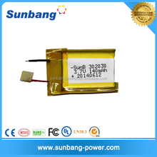 302030 3.7v 140mAh li-ion polymer rechargeable battery for eletric tools