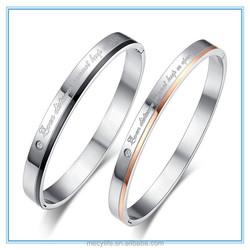 MECY LIFE 2015 wholesale high polished Titanium steel Korean version of bracelet couple