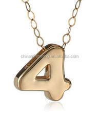 2015 New Arrival plain cheap pendant number pendants Necklace