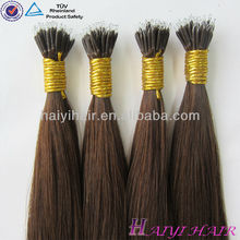 Top quality wholesale price 1g strand double drawn nano ring hair black