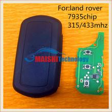 best quality car flip remote control key 315mhz with 7935 transponder chip for land rover range rover uncut keys blade hu92