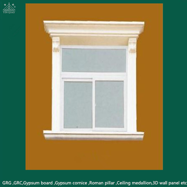 Home outside decoration glassfiber reinforced cement grc for Window design cement