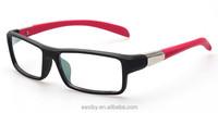 Fashionable men and women new style black frame multi color legs optical myopia glasses square full frame eyewear frame