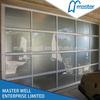 Easy lift tempered glass door panels garage door