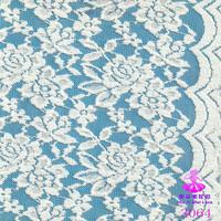 2015 peony pattern thick cotton lace for dress latest dress designs, cotton nylon lace fabric