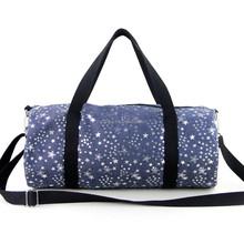 Promotion cylinder cotton canvas duffel bag ,travel bag manufacturer