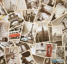 32Pcs 1 Set Vintage Famous Building Retro Old Travel Postcards for Worth Collecting Greeting Cards