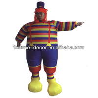 200cm high inflatable clown/jester/buffoon costume