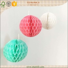 Australia fashion new holiday products 28g tissue paper honeycomb ball