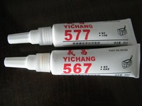 Thread sealant adhesive 567 for sealing high pressure tapered pipe threads fittings