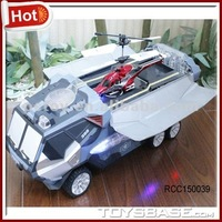 2 in 1Novel rc car with rc hubschrauber
