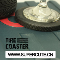Newly Design Tire shaped High Quality Silicone placemat