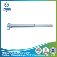 P660A UL Panic Exit Bolt - Vertical Stainless Steel/Iron Paint