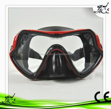 ACE Hot Sell Jumbo Face Skirt Swimming Mask Custom Design nice Color One Window Cheap Diving Mask