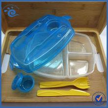 Foodgrade ECO Locked Plastic Storage 3 Compartment Lunch Box