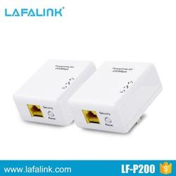 200Mbps rj45 Interface Wall Plug WIFI Wireless Powerline Network Adapter